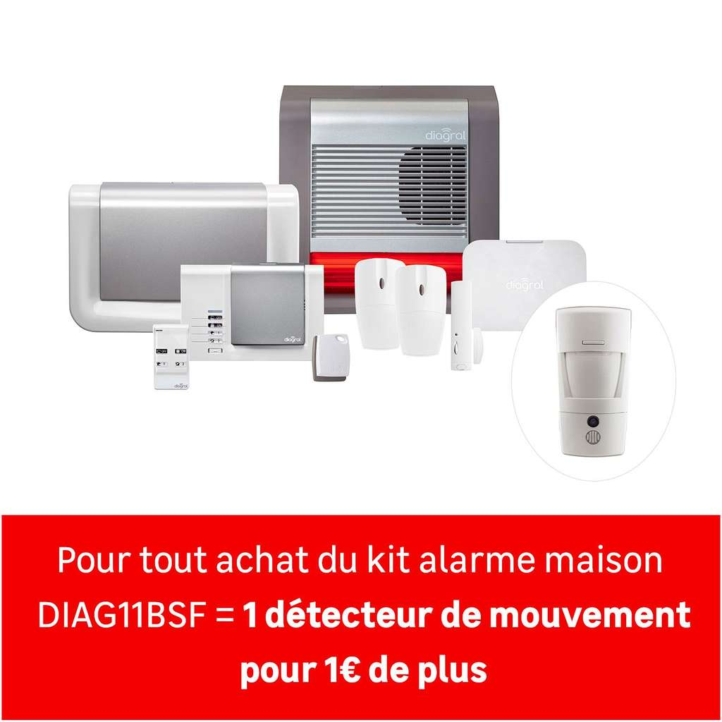 Alarme maison sans fil connect e et compatible animaux for Alarme maison diagral