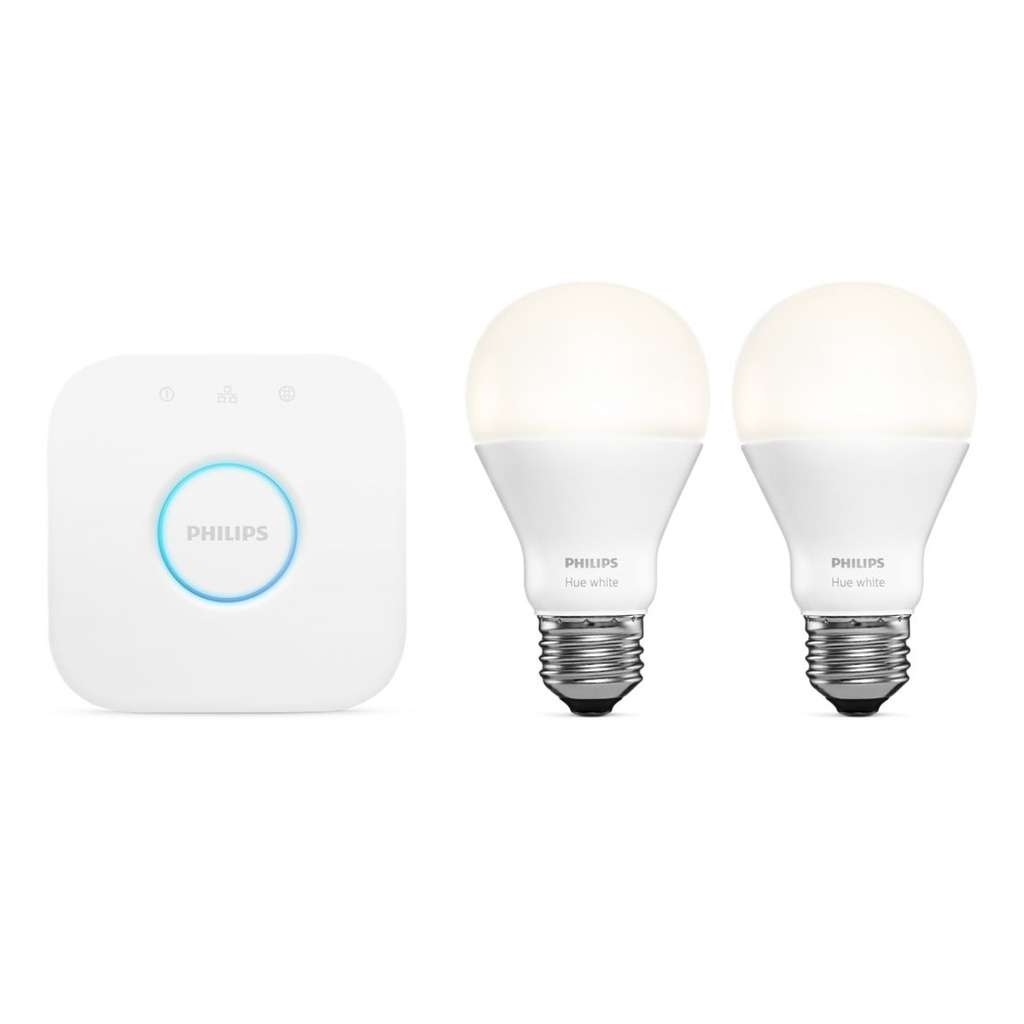 kit de d marrage philips hue ampoule led e27 pont de connexion. Black Bedroom Furniture Sets. Home Design Ideas