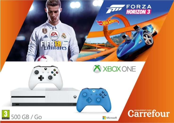 pack console microsoft xbox one s 500 go 2 me manette. Black Bedroom Furniture Sets. Home Design Ideas