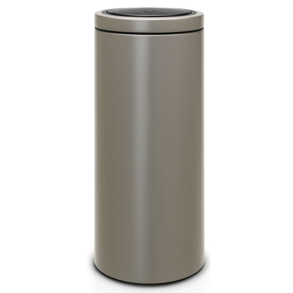 poubelle brabantia touch bin push 30 l platinum via 50 sur carte carrefour. Black Bedroom Furniture Sets. Home Design Ideas