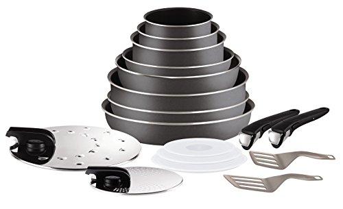 set de cuisine ingenio 5 essential gris anthracite 17 pi ces tous feux sauf induction. Black Bedroom Furniture Sets. Home Design Ideas