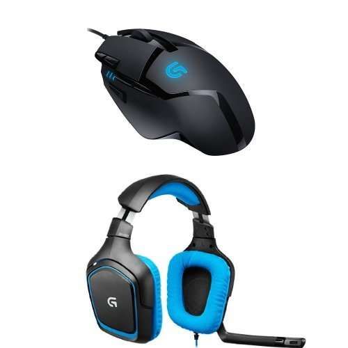 pack logitech souris gaming g402 hyperion fury micro casque gaming pour pc ps4 g430. Black Bedroom Furniture Sets. Home Design Ideas