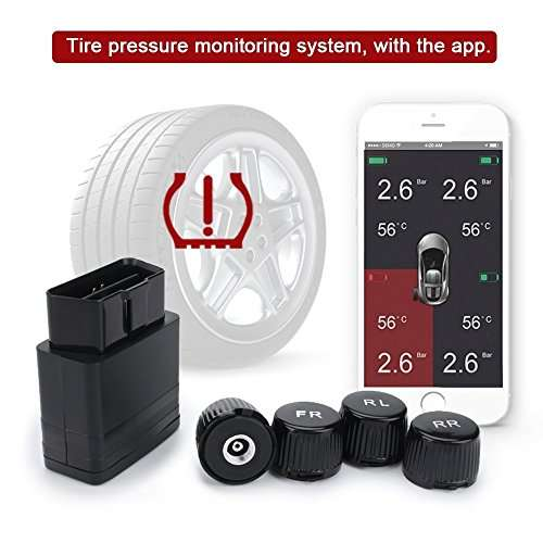 manom tre de pression de pneus obd avec syst me de surveillance tpms de smartphone ios android 4. Black Bedroom Furniture Sets. Home Design Ideas