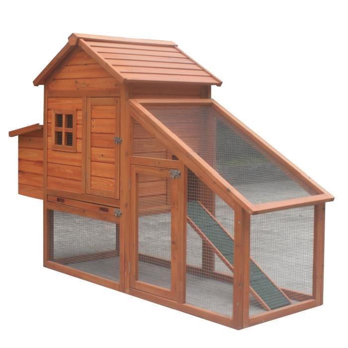 poulailler poils plumes coco bois 4 poules 172 x 65 x 120 cm. Black Bedroom Furniture Sets. Home Design Ideas