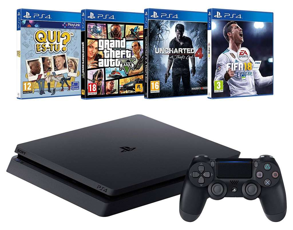 pack console ps4 500 go fifa 18 gta v metal gear. Black Bedroom Furniture Sets. Home Design Ideas