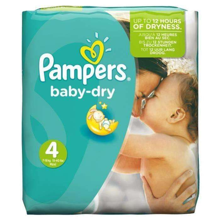 Paquet de 30 couches pampers baby dry taille 4 - Combien coute un paquet de couche pampers ...