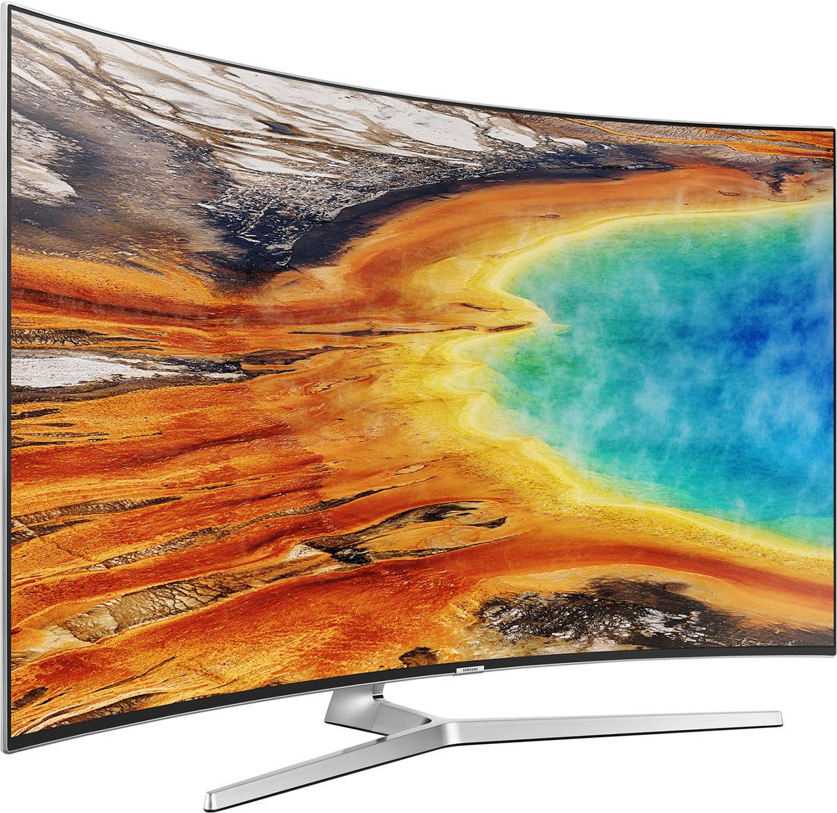 tv 55 samsung ue55mu9005 uhd 4k incurv avec 300 d 39 odr. Black Bedroom Furniture Sets. Home Design Ideas