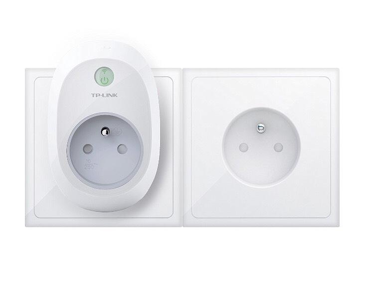 Prise connect e wi fi tp link hs100 fr smart plug blanc - Prise connectee wifi ...