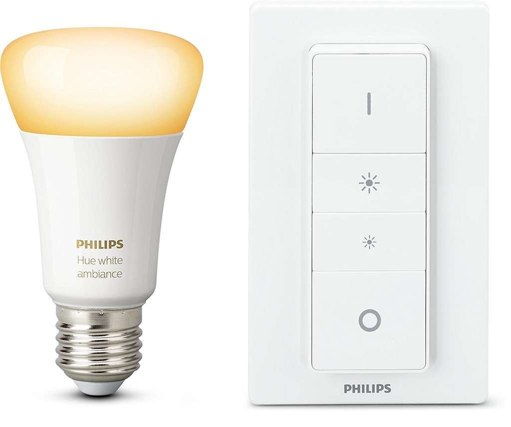 ampoule philips hue dimming kit white ambiance e27 avec. Black Bedroom Furniture Sets. Home Design Ideas