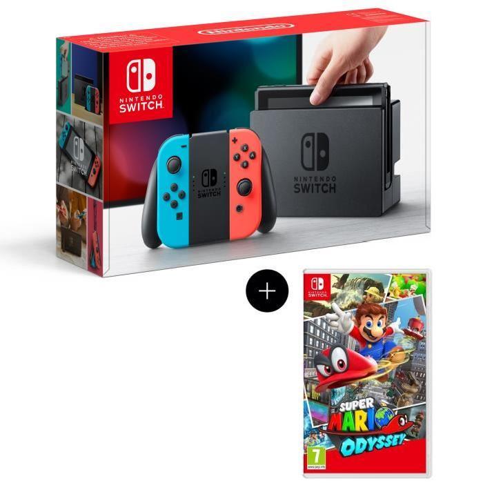 Console nintendo switch super mario odyssey via sur la carte caen 14 - Console de jeux portable pas cher ...