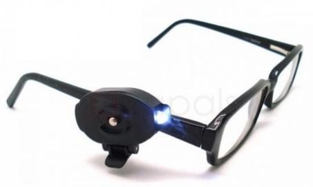 Mini lampe de poche clipser sur des lunettes led - Code promo collectionnez les etoiles frais de port gratuit ...