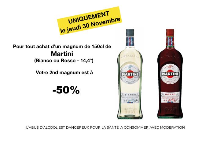1 bouteille de magnum martini achet e la deuxi me - Prix alcool leclerc ...
