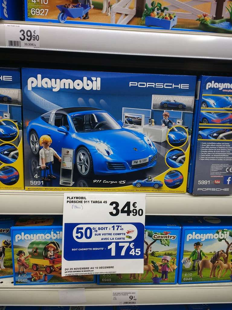 auchan clermont ferrand 50 cr dit s sur la carte waaoh sur une s lection de playmobil ex. Black Bedroom Furniture Sets. Home Design Ideas