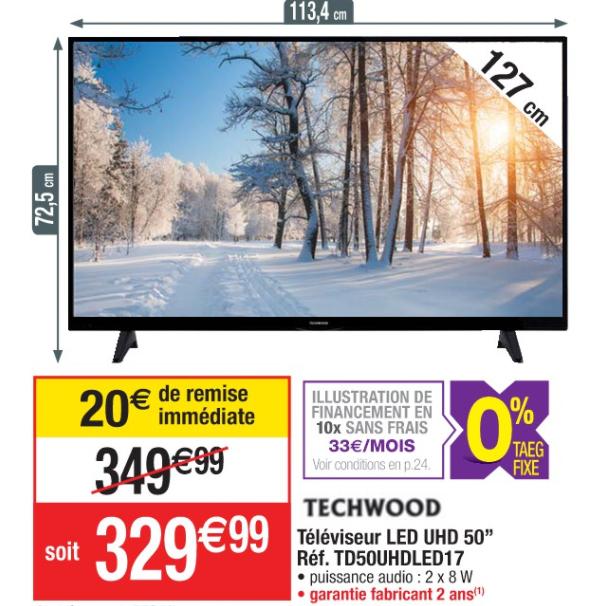 tv 50 uhd techwood td50uhdled17 smart tv. Black Bedroom Furniture Sets. Home Design Ideas