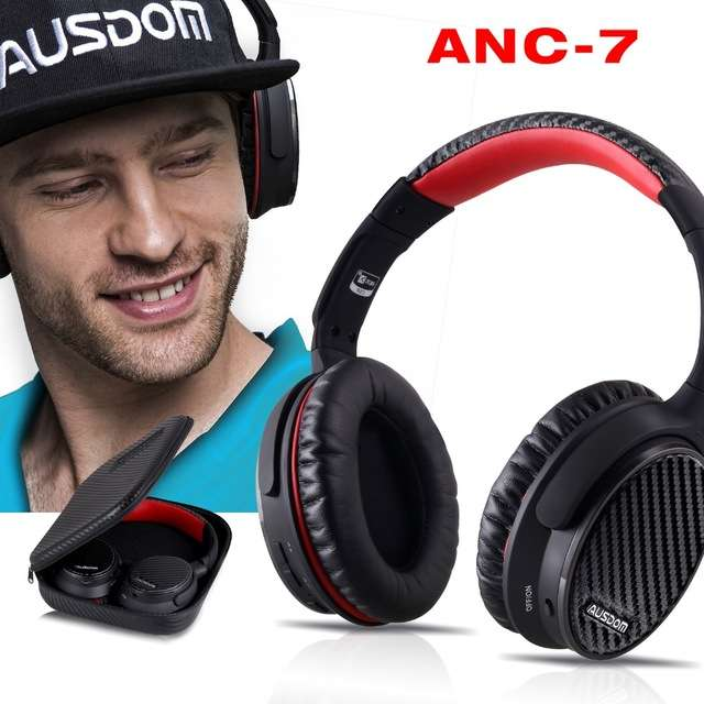 casque audio ausdom anc7 bluetooth 4 0 r duction de. Black Bedroom Furniture Sets. Home Design Ideas