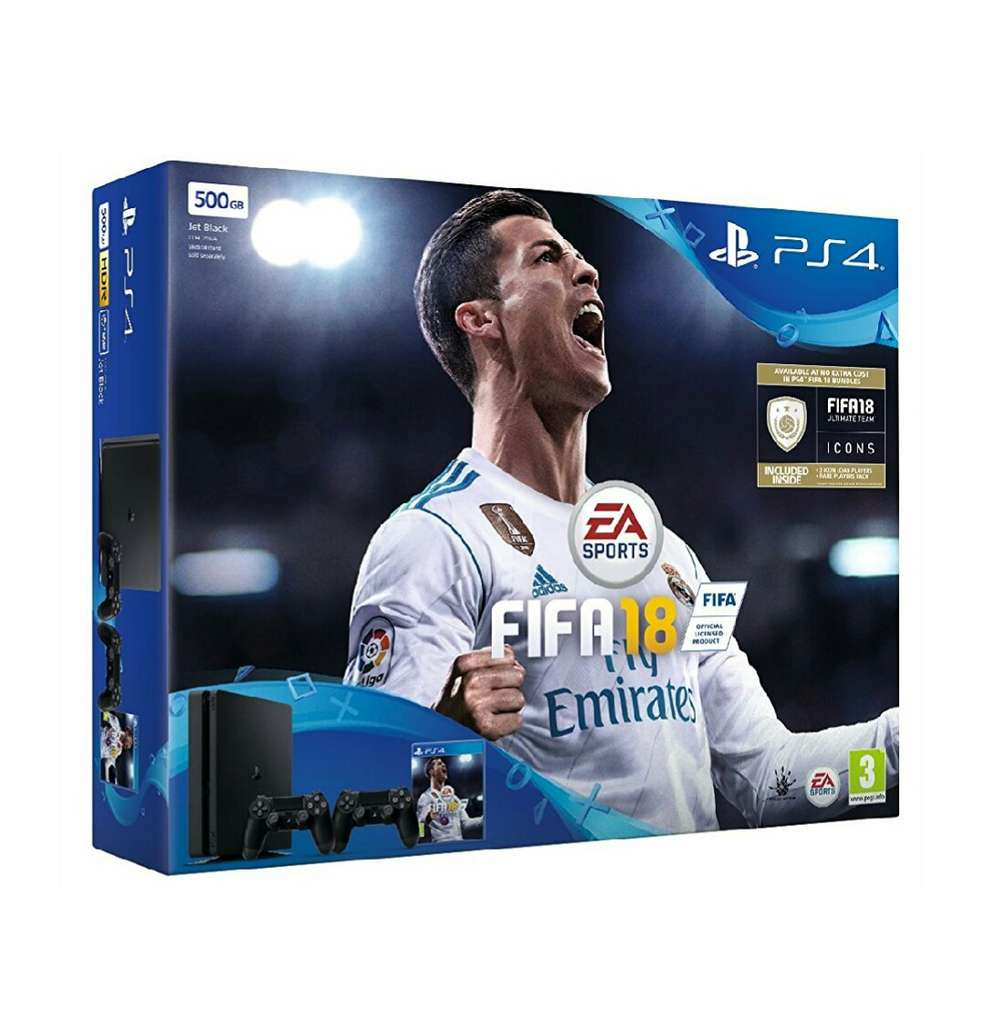 pack console sony ps4 slim 500 go 2 me manette fifa. Black Bedroom Furniture Sets. Home Design Ideas