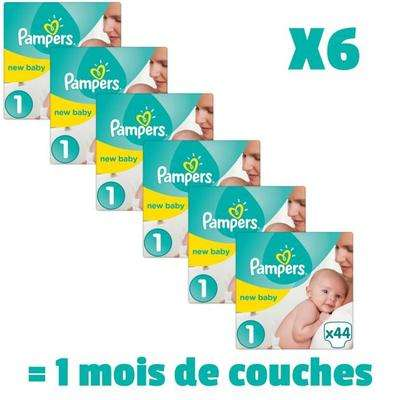 Cdav pack de 264 couches pampers new baby taille 1 - Prix couches pampers new baby taille 1 ...