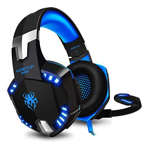 casque micro gaming kingtop kg2000 compatible ps4 noir bleu vendeur tiers. Black Bedroom Furniture Sets. Home Design Ideas