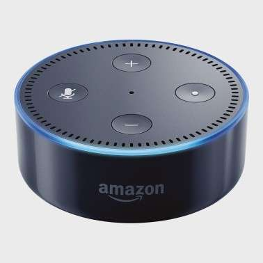 assistant vocal amazon echo dot 2 me version noir. Black Bedroom Furniture Sets. Home Design Ideas