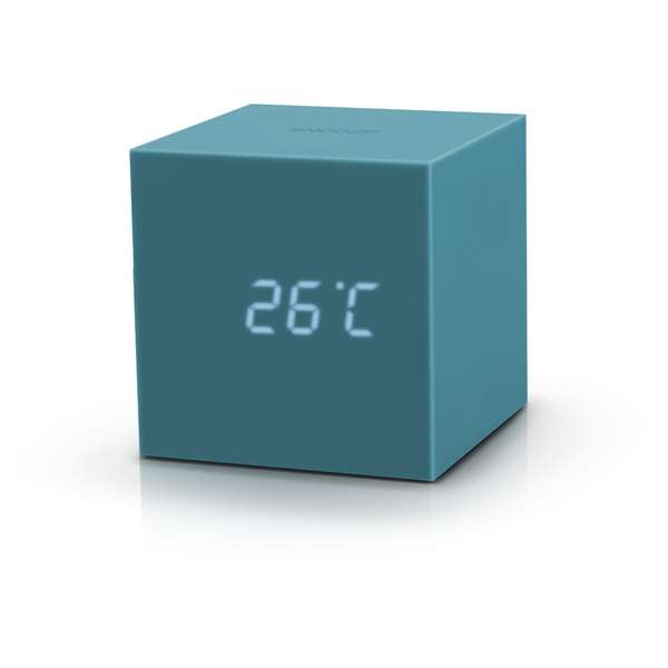 r veil cube gingko gravity click clock bleu canard. Black Bedroom Furniture Sets. Home Design Ideas