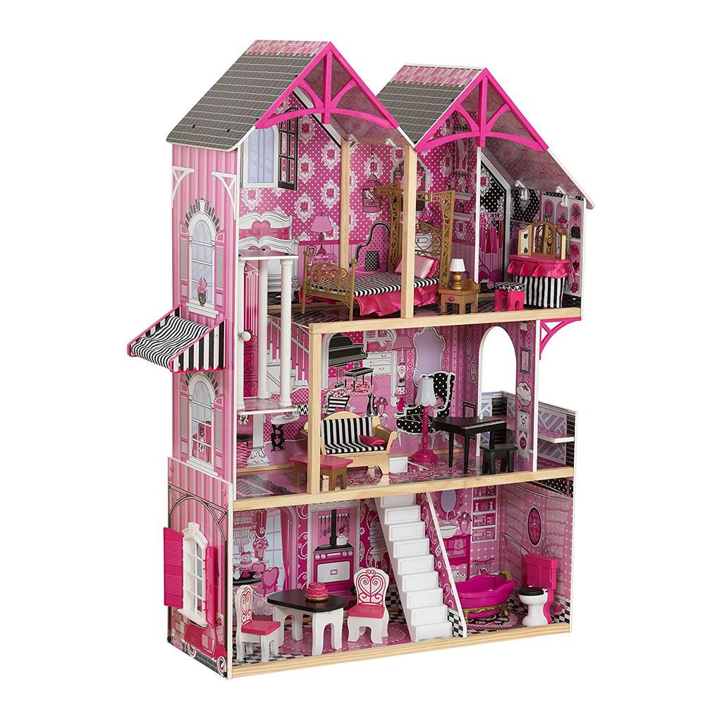 maison de poup es kidkraft bella 16 accessoires. Black Bedroom Furniture Sets. Home Design Ideas