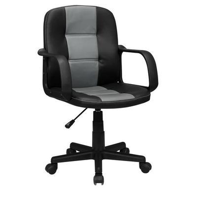 fauteuil de bureau sur roulettes noir et gris. Black Bedroom Furniture Sets. Home Design Ideas