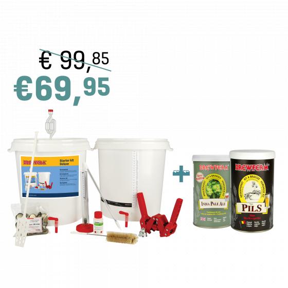 kit de brassage de bi re brewferm d butant deluxe 2 kits de bi re brewferm ipa pils. Black Bedroom Furniture Sets. Home Design Ideas