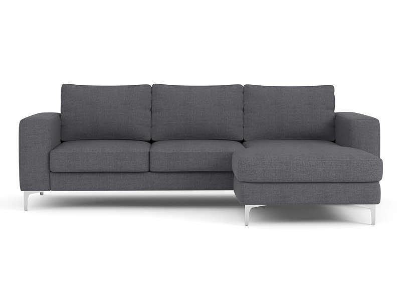 canap d 39 angle r versible 4 places en tissu flury coloris gris. Black Bedroom Furniture Sets. Home Design Ideas