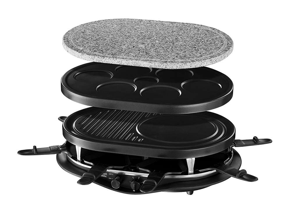 appareil raclette russell hobbs 21000 56 fiesta 4 en 1. Black Bedroom Furniture Sets. Home Design Ideas