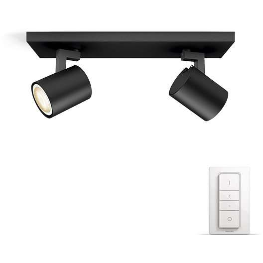 plafonnier led gu10 phillips hue runner avec variateur dimmer switch. Black Bedroom Furniture Sets. Home Design Ideas