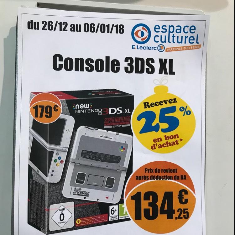 Console new nintendo 3ds xl snes dition via en for Leclerc varennes