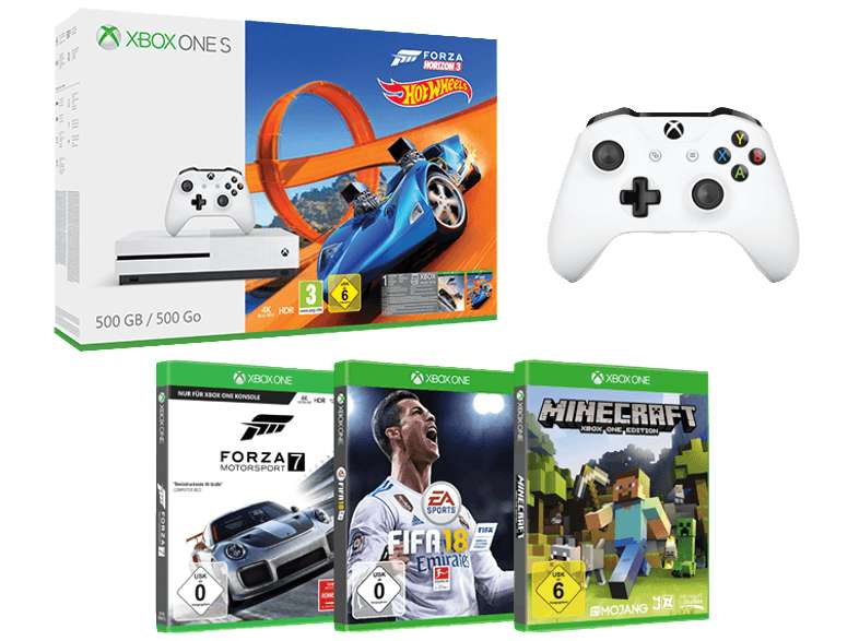 xbox one s console 500go forza horizon 3 2 me manette fifa 18 forza motosport 7. Black Bedroom Furniture Sets. Home Design Ideas