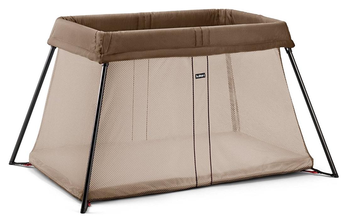 lit parapluie pour b b baby bjorn marron. Black Bedroom Furniture Sets. Home Design Ideas