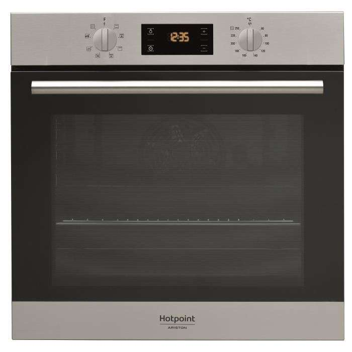 four electrique encastrable multifonction hotpoint fa2 540 p ix ha avec chaleur tournante et. Black Bedroom Furniture Sets. Home Design Ideas
