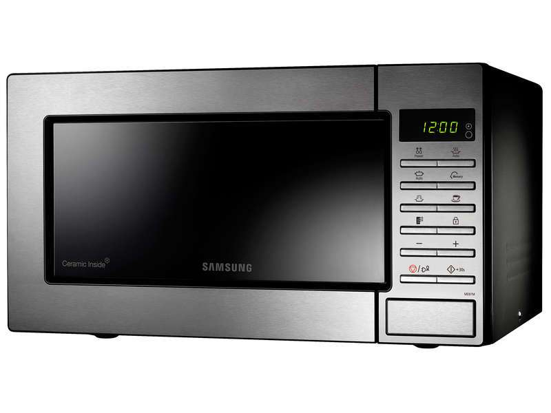 Micro onde lectronique inox samsung me87m 800w 23l - Mauvaise odeur micro onde ...