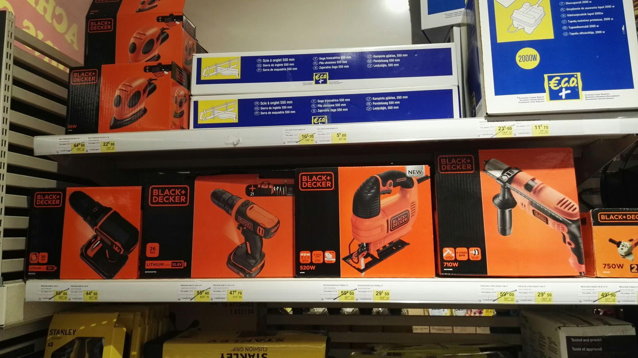50 de r duction sur une s lection d 39 outils black et for Outils black et decker