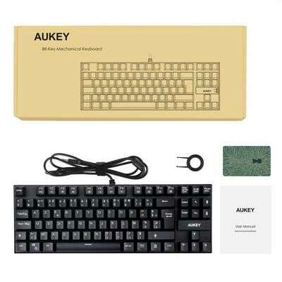 clavier m canique gamer filaire usb aukey azerty 88 touches switch bleu vendeur tiers. Black Bedroom Furniture Sets. Home Design Ideas