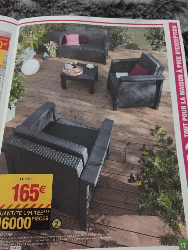 salon de d tente havana r sine synthetique. Black Bedroom Furniture Sets. Home Design Ideas