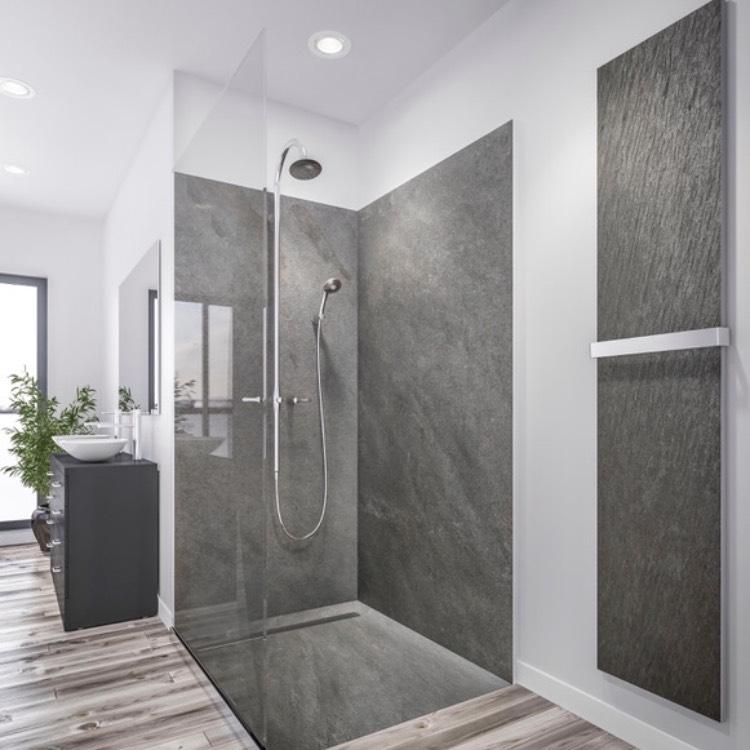 receveur de douche en pierre mur en pierre marmox. Black Bedroom Furniture Sets. Home Design Ideas