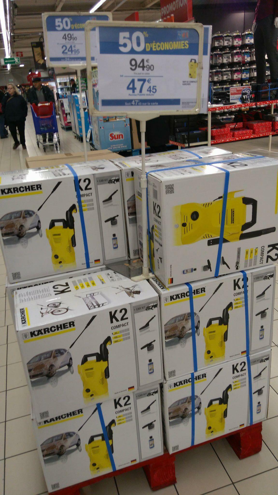 Nettoyeur haute pression karcher compact k2 avec - Carrefour nettoyeur haute pression ...