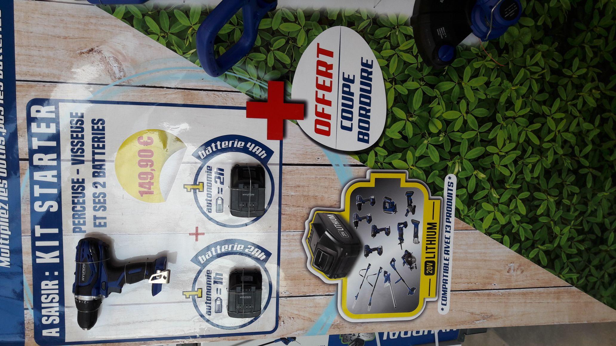 perceuse sans fil hyundai 20v 2 batteries coupe bordure saint m dard en jalles 33. Black Bedroom Furniture Sets. Home Design Ideas
