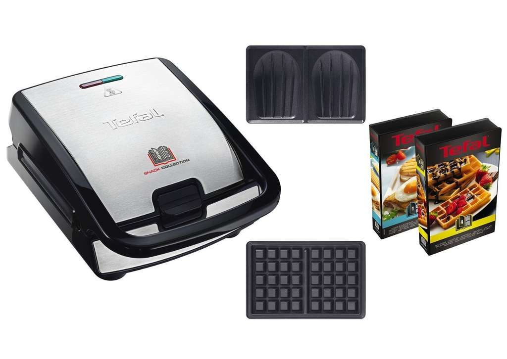 machine gaufres et croques monsieur tefal sw853d12 snack collection. Black Bedroom Furniture Sets. Home Design Ideas