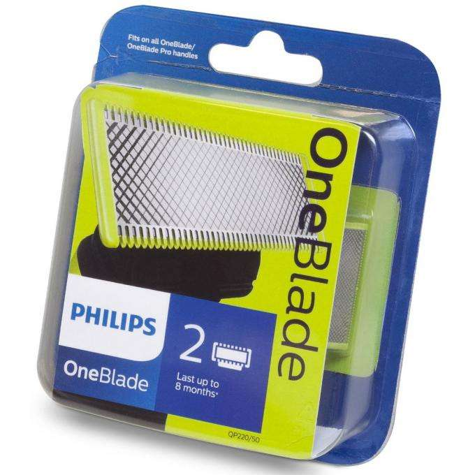 pack 2 lames philips oneblade. Black Bedroom Furniture Sets. Home Design Ideas