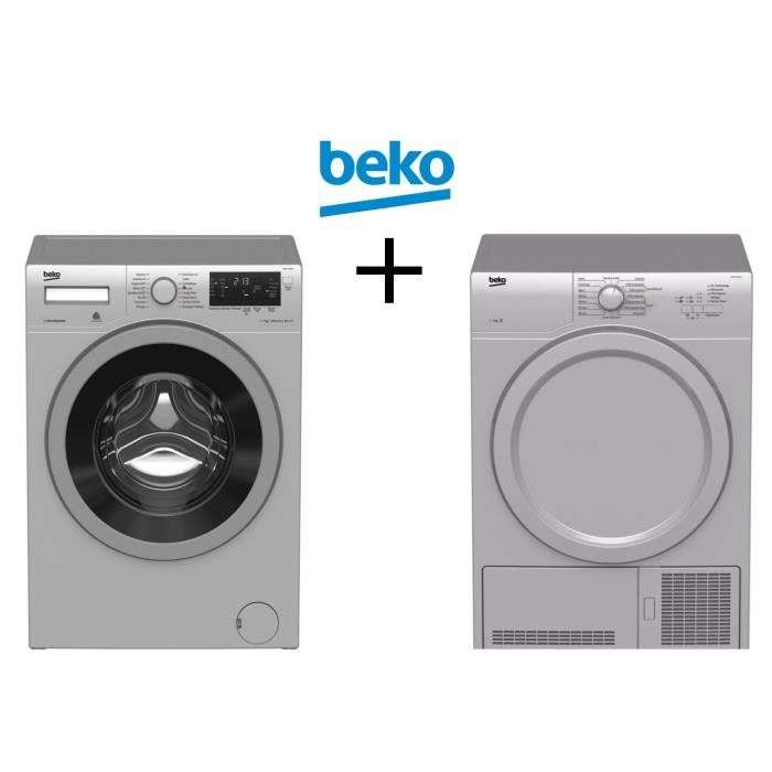 lave linge frontal beko wmy712230s avec moteur induction 7kg 1200trs m s che linge frontal. Black Bedroom Furniture Sets. Home Design Ideas