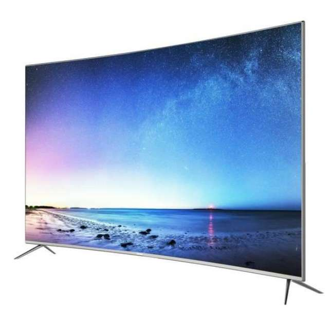 tv 55 haier le55q6500u 4k uhd incurv e smart tv. Black Bedroom Furniture Sets. Home Design Ideas