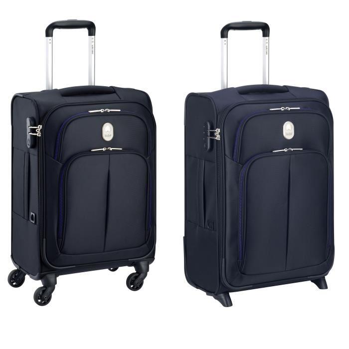 lot de 2 valises souples delsey visa 50 et 78cm. Black Bedroom Furniture Sets. Home Design Ideas
