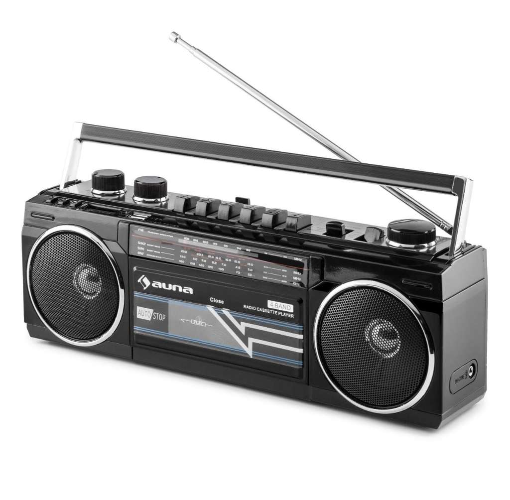 poste radio cassette portable r tro ghetto blaster auna duke vendeur tiers. Black Bedroom Furniture Sets. Home Design Ideas