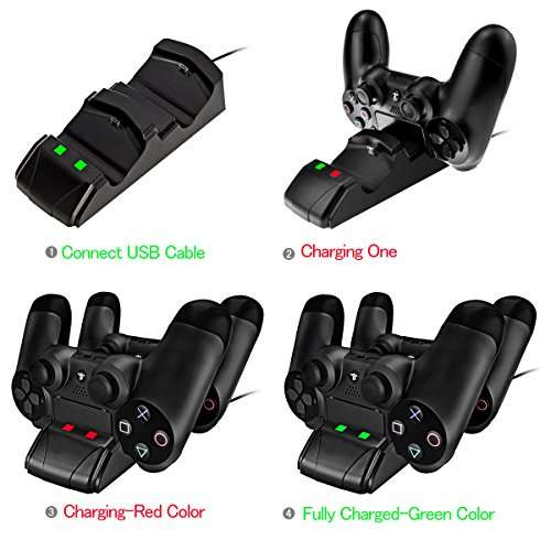 chargeur pecham pour manettes dualshock playstation 4 ps4 vendeur tiers. Black Bedroom Furniture Sets. Home Design Ideas
