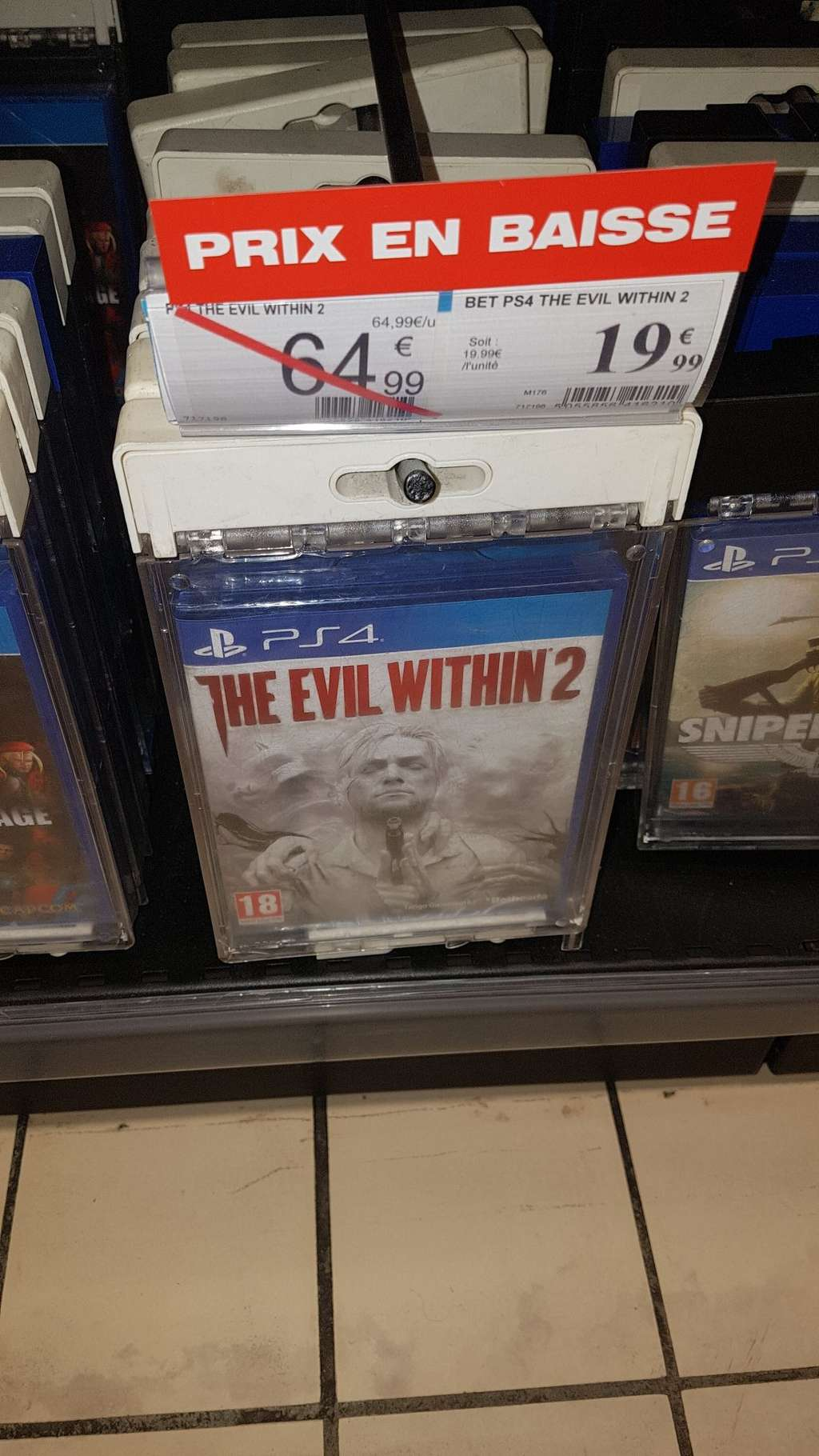The evil within 2 sur ps4 au auchan lac bordeaux 33 - Magasin auchan lac ...