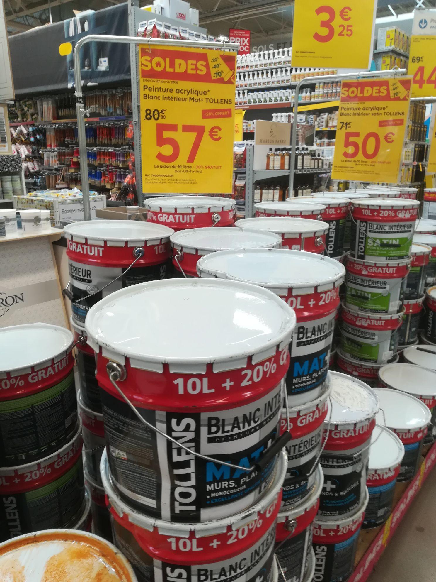 Pot de peinture tollens 12l mat castorama dijon 21 - Pot de peinture prix ...